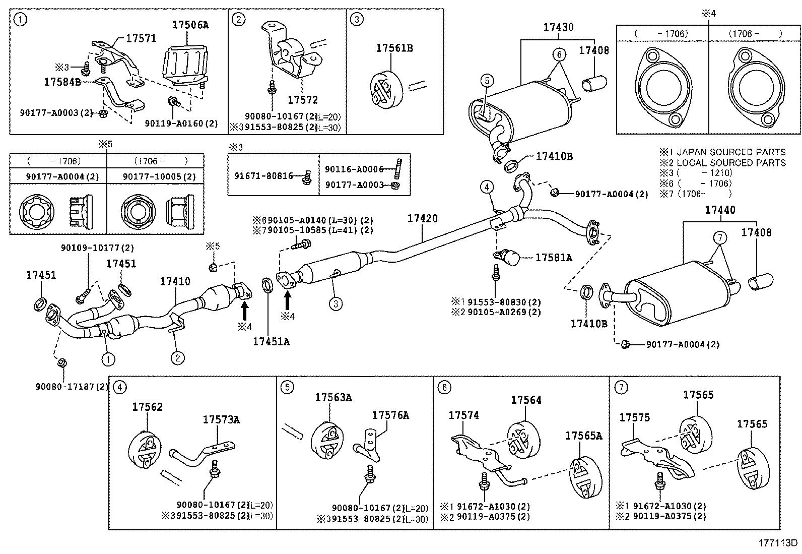2015 Toyota Camry Exhaust Muffler  Without  Which  Universal
