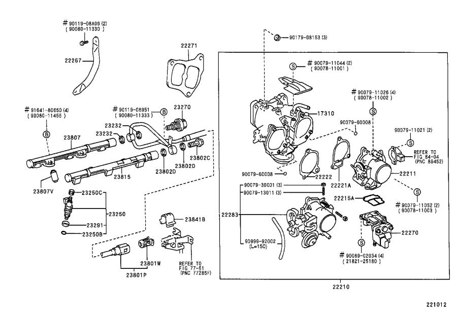 2002 toyota sienna pipe sub-assembly  fuel  no  1  system  injection