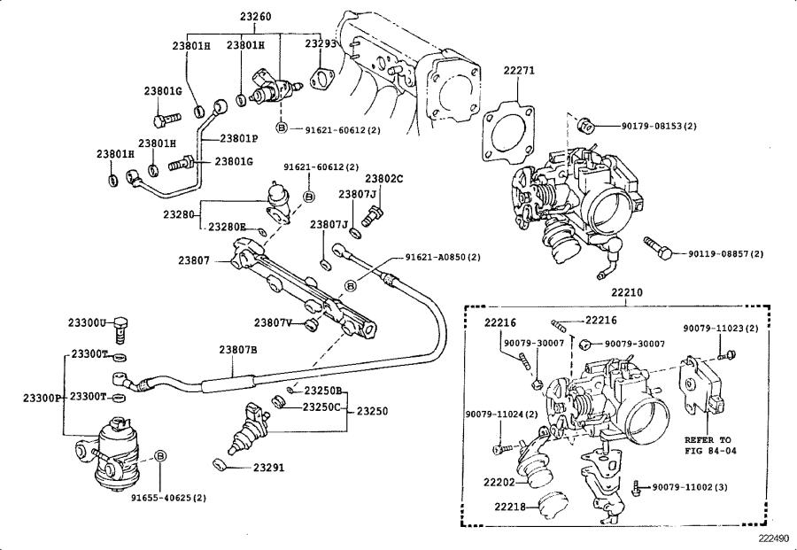 Toyota Corolla Electric Fuel Pump  System  Injection  Tube