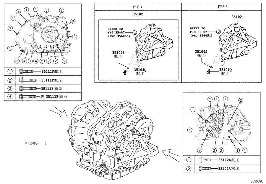 2009 toyota avalon bearing for counter drive gear