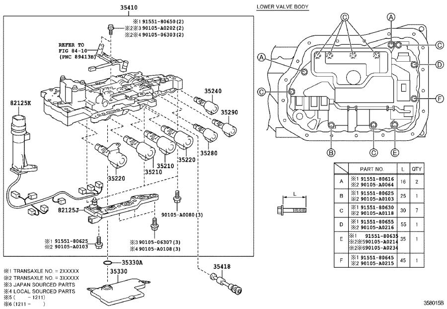 2012 Toyota Camry Wire  Transmission  Driveline