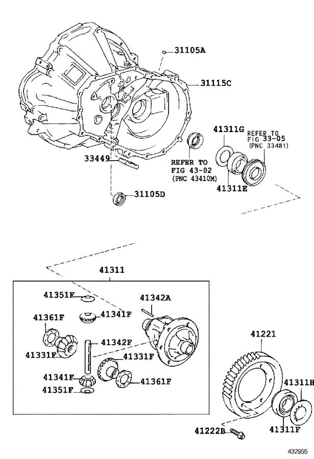 2001 Toyota Echo Automatic Transmission Differential