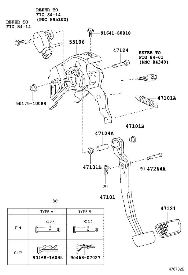 2006 Toyota Prius Support sub-assembly, brake pedal ...