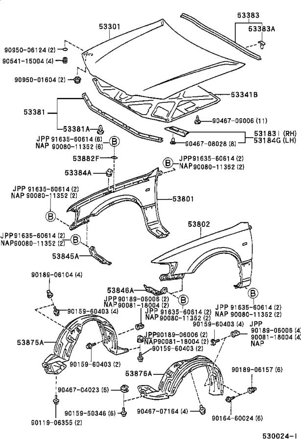 30 2001 Toyota Camry Parts Diagram