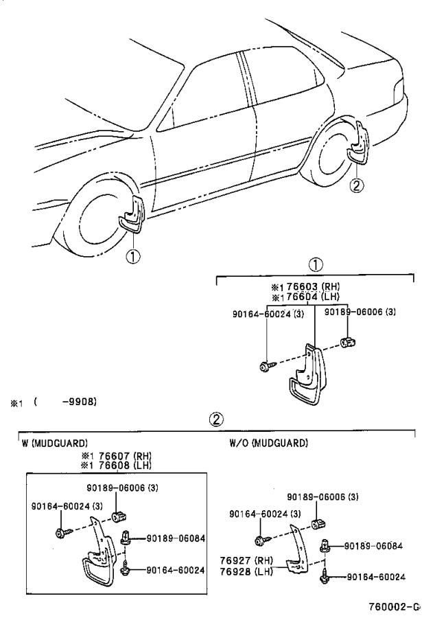 31 2001 Toyota Camry Parts Diagram