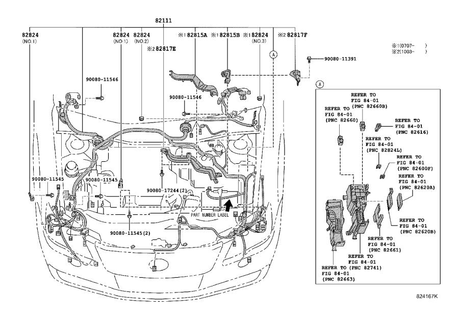 2007 Toyota Avalon Wire  Engine Room Main  Wiring