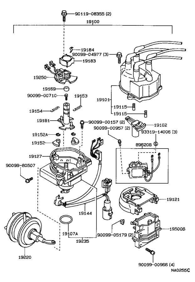 Toyota Corolla Cap Sub-assembly  Distributor  Ignition  Engine