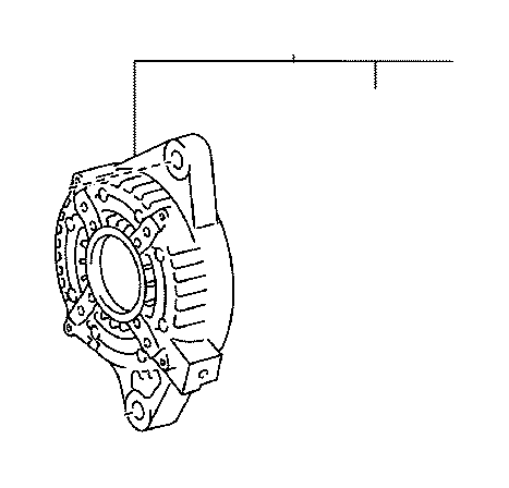2014 toyota sienna plate  bearing retainer  alternator