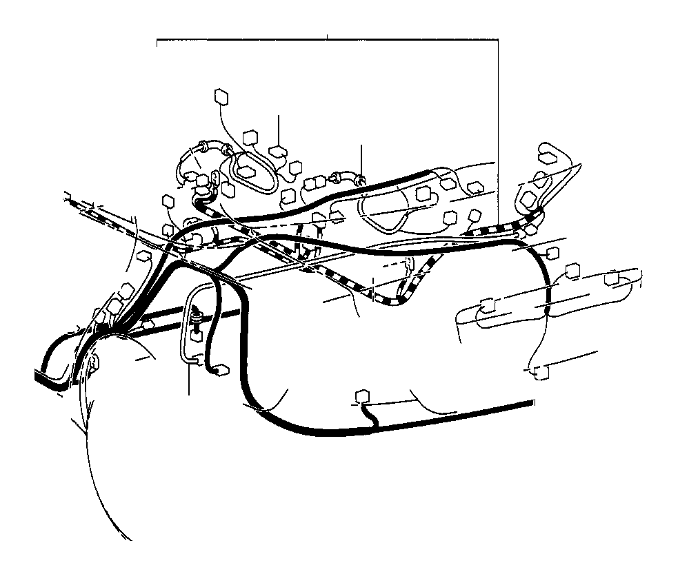 2003 toyota camry wire  frame  electrical  wiring