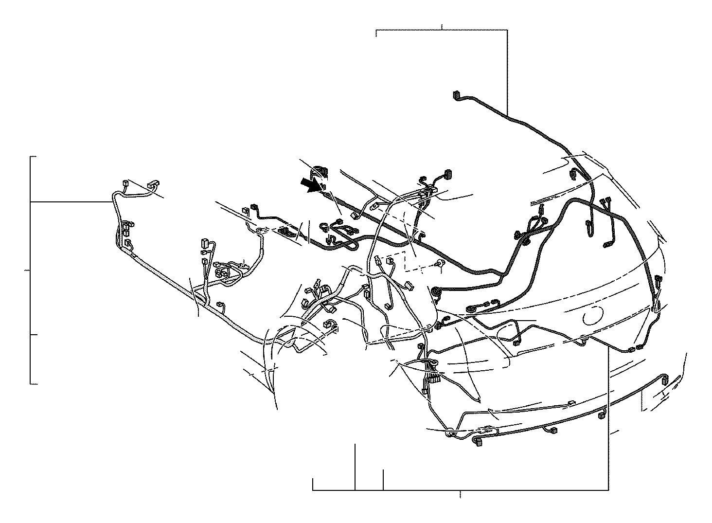 2013 toyota venza wire  floor  no  3  electrical