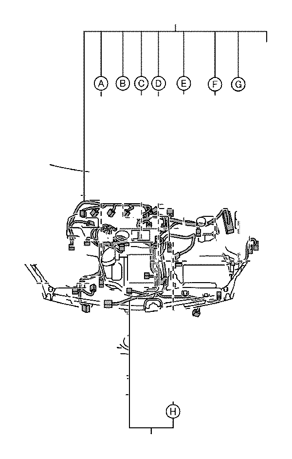 2010 Toyota Prius Wire  Engine  No  2  Wiring  Electrical